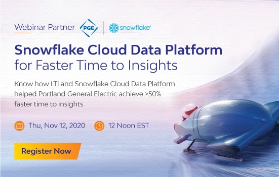 Snowflake Cloud Data Platform for Faster Time to Insights