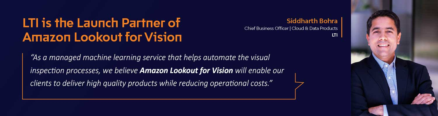 LTI is Launch Partner for Amazon Lookout for Vision
