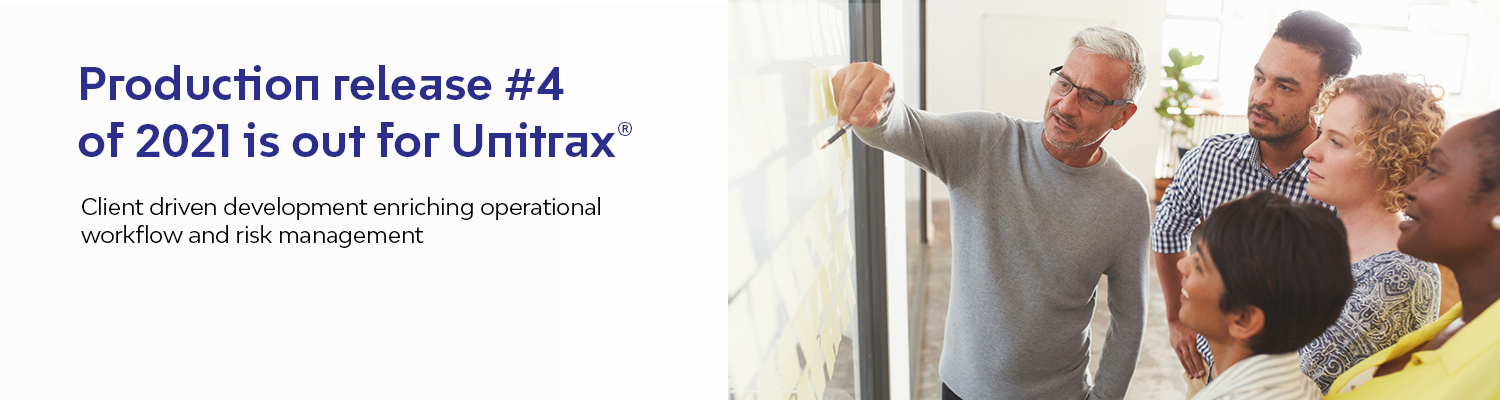 Production release #4 of 2021 is out for Unitrax®