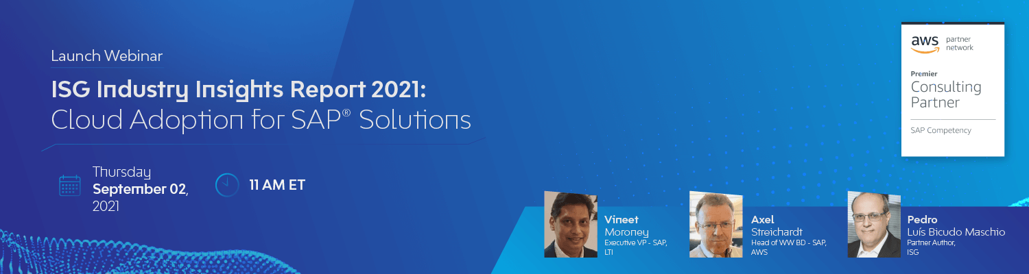 ISG Industry Insights Report 2021: Cloud Adoption for SAP Solutions